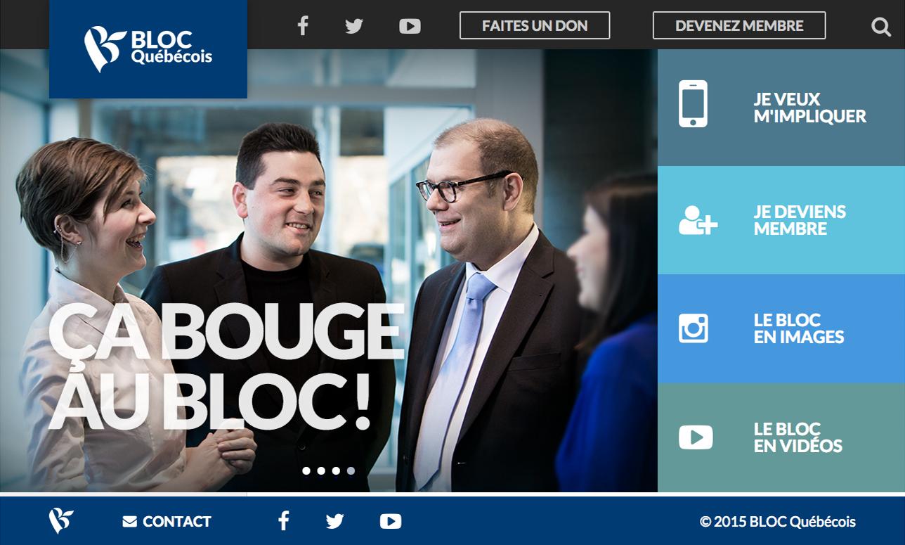 Bloc Québécois website