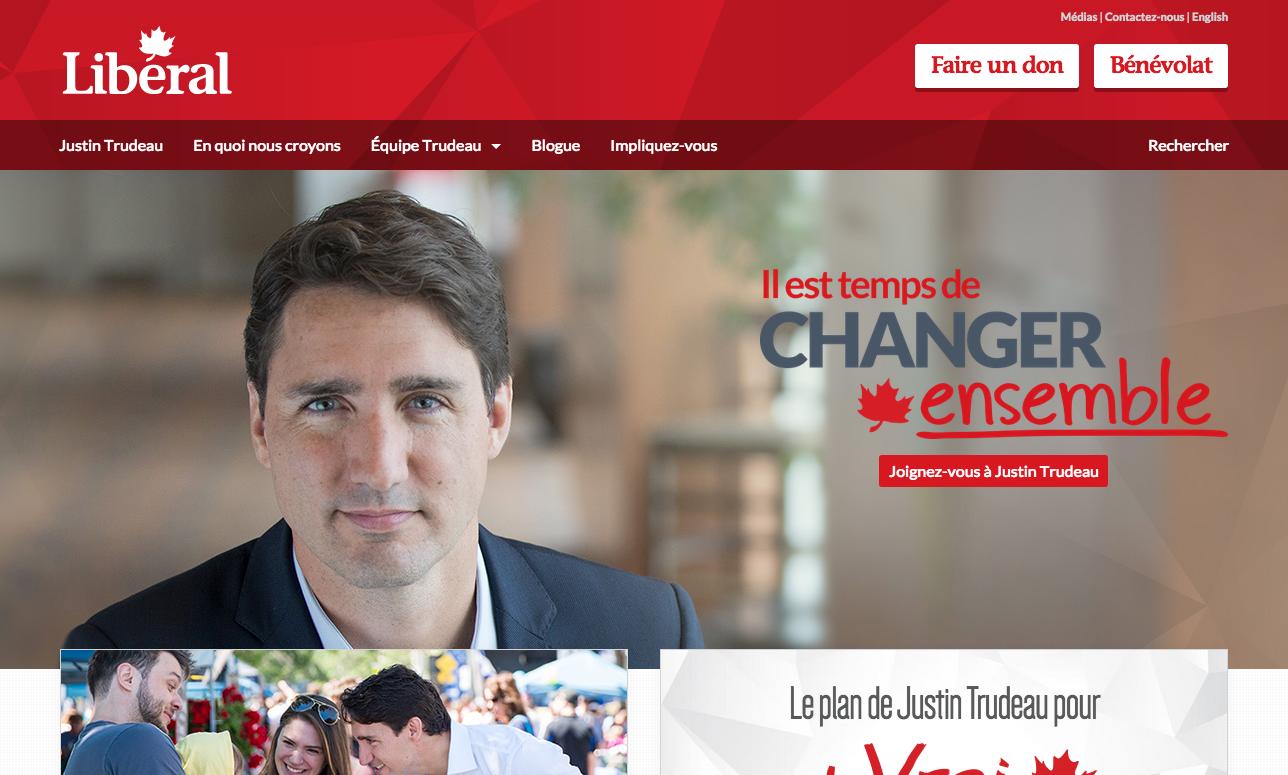 Site web du Parti libéral du Canada