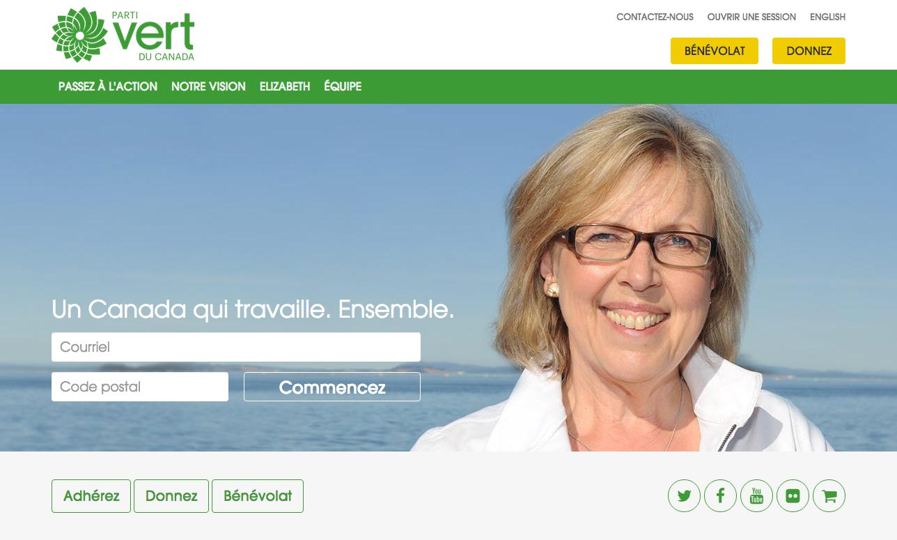 Site web du Parti vert du Canada