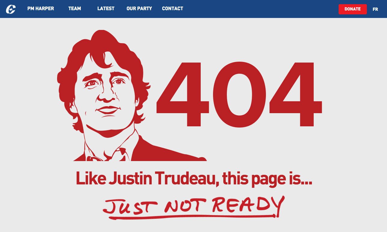 Conservative Party of Canada 404 page not found