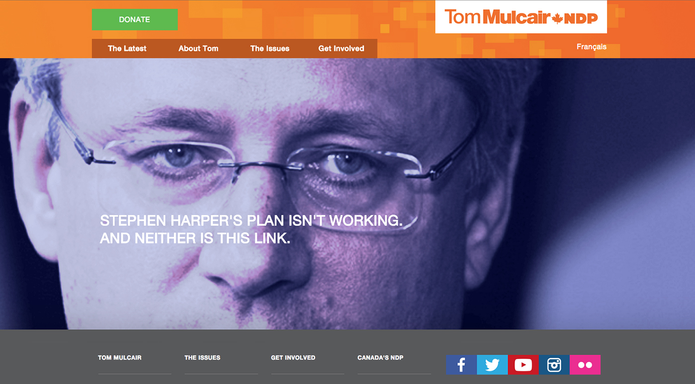 New Democratic Party of Canada (NDP) 404 page not found