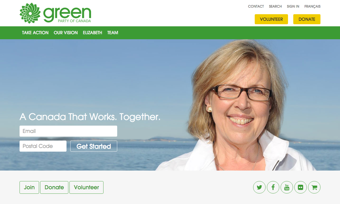 Green Party of Canada website
