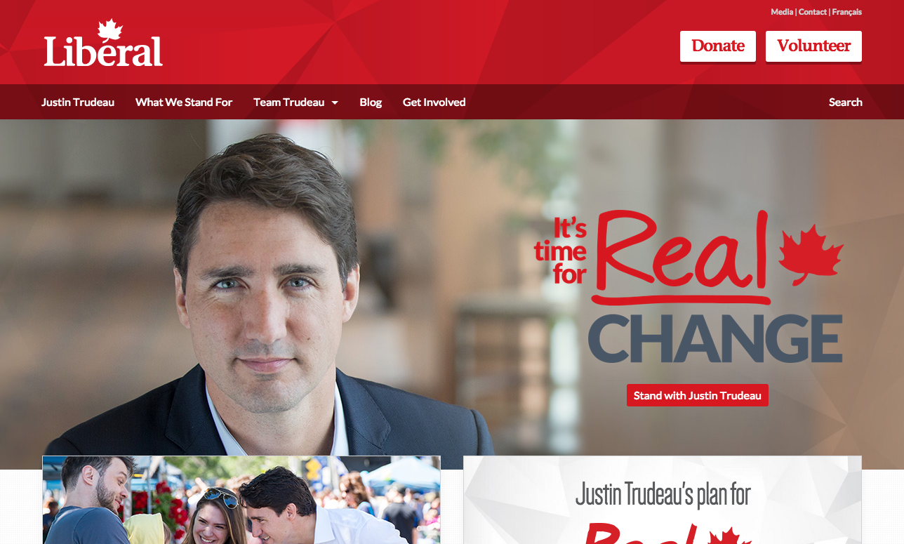 Liberal Party of Canada website